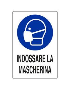 CARTELLO OBBLIGO DI INDOSSARE LA MASCHERINA